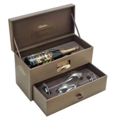 Dárkový box Champagne Joseph Perrier La Cuvée Joséphine 2008 – Prestigue Cuvée 0,75l + dvě sklenice